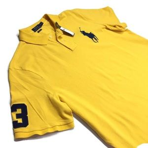 Polo Ralph Lauren Yellow Rugby Shirt Large Pony XL